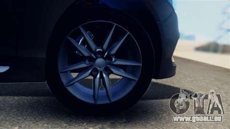 Hyundai Sonata 2015 für GTA San Andreas Rückansicht