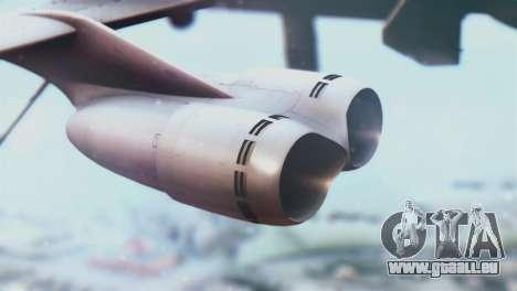 Boeing B-52H Stratofortress für GTA San Andreas rechten Ansicht