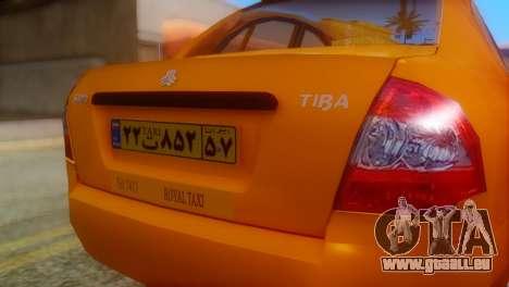Tiba Taxi v1 pour GTA San Andreas vue arrière