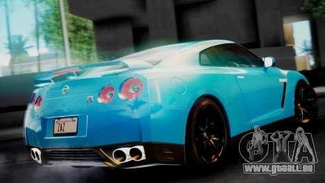 Nissan GT-R 2015 pour GTA San Andreas sur la vue arrière gauche