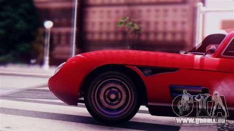 GTA 5 Benefactor Stirling GT für GTA San Andreas Rückansicht