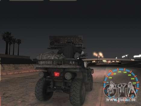 Simple compteur de vitesse pour GTA San Andreas cinquième écran