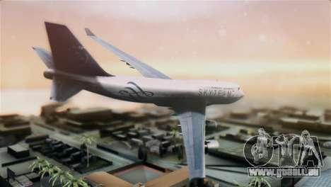 Boeing 747-400 Garuda Indonesia Sky Team für GTA San Andreas linke Ansicht