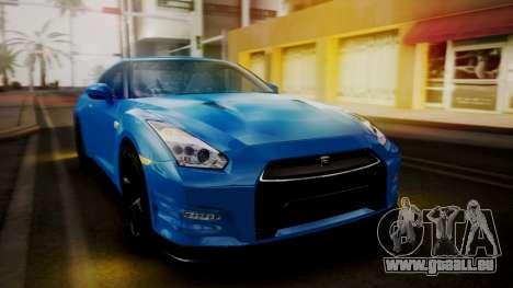 Nissan GT-R 2015 pour GTA San Andreas vue de côté