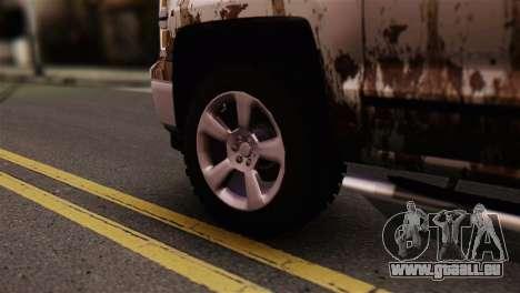 Chevrolet Silverado Enlodada pour GTA San Andreas sur la vue arrière gauche