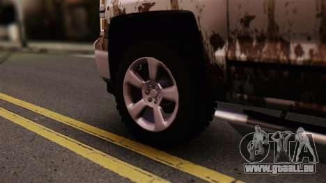 Chevrolet Silverado Enlodada für GTA San Andreas zurück linke Ansicht