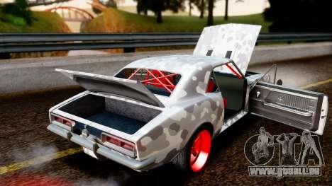 Chevrolet Camaro SS Camo Drift pour GTA San Andreas vue intérieure