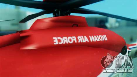 Indian Air Force EC-135 Dhruv SARANG Skin pour GTA San Andreas vue arrière