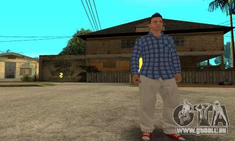 Skin Claude [HD] pour GTA San Andreas cinquième écran