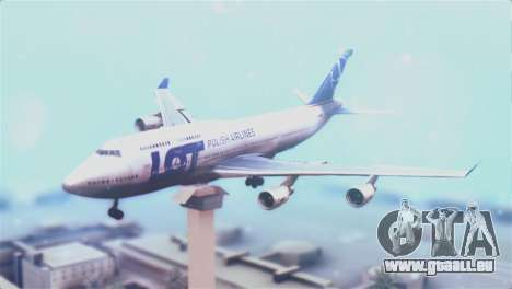 LOT Polish Airlines Boeing 747-400 für GTA San Andreas