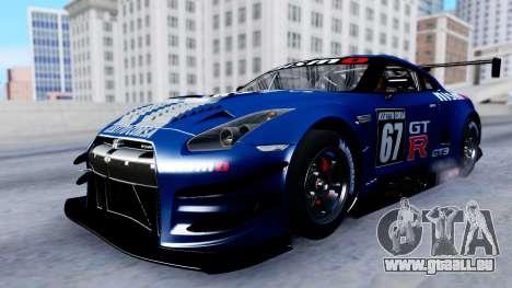 Nissan GT-R (R35) GT3 2012 PJ2 pour GTA San Andreas vue de dessus
