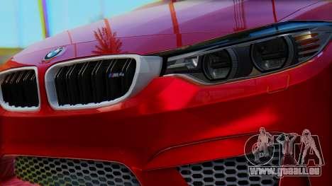 BMW M4 2015 HQLM für GTA San Andreas rechten Ansicht