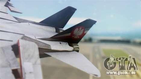 F-14D Super Tomcat Polish Navy pour GTA San Andreas sur la vue arrière gauche