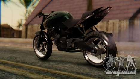 Bajaj Rouser 135 Stunt pour GTA San Andreas laissé vue