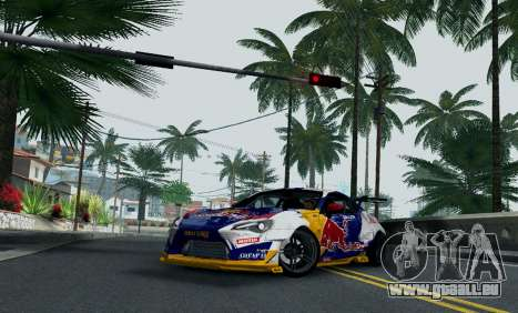 Toyota GT86 Red Bull pour GTA San Andreas vue de droite