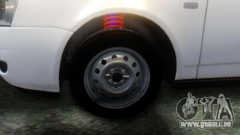 VAZ 2172 pour GTA San Andreas sur la vue arrière gauche