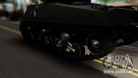 M4 Sherman Gawai Special pour GTA San Andreas sur la vue arrière gauche