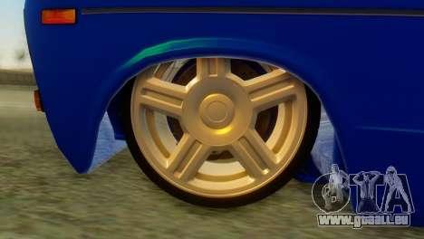 VAZ 2106 Caméléon pour GTA San Andreas sur la vue arrière gauche