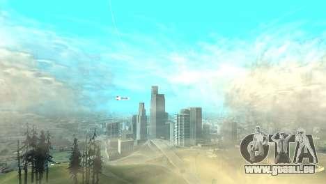 La publicité dirigeables pour GTA San Andreas troisième écran