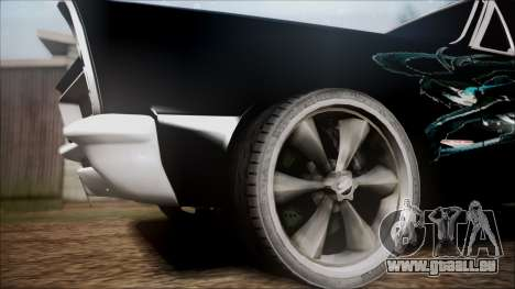 Pontiac GTO Black Rock Shooter für GTA San Andreas zurück linke Ansicht