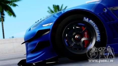Nissan GT-R (R35) GT3 2012 PJ2 pour GTA San Andreas vue arrière