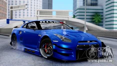Nissan GT-R (R35) GT3 2012 PJ2 pour GTA San Andreas