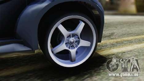 Toyota Aygo Sporting pour GTA San Andreas sur la vue arrière gauche