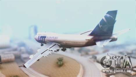 LOT Polish Airlines Boeing 747-400 für GTA San Andreas linke Ansicht
