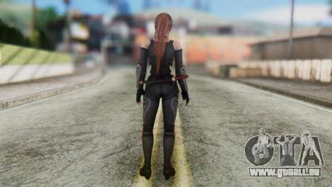 Dead Or Alive 5 Kasumi Ninja Black Costume pour GTA San Andreas troisième écran