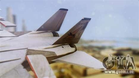 F-14A Tomcat VF-21 Freelancers pour GTA San Andreas sur la vue arrière gauche