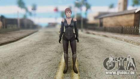 Dead Or Alive 5 Kasumi Ninja Black Costume für GTA San Andreas zweiten Screenshot