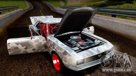 Chevrolet Camaro SS Camo Drift pour GTA San Andreas vue arrière
