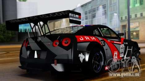 Nissan GT-R (R35) GT3 2012 PJ3 pour GTA San Andreas vue intérieure