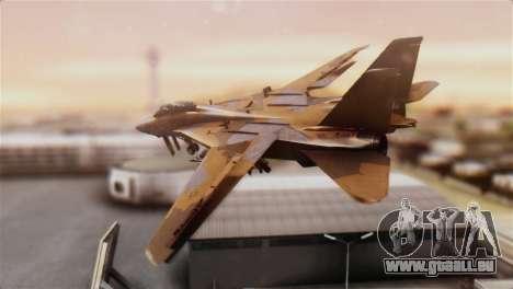 F-14A Tomcat NSAWC Brown pour GTA San Andreas laissé vue