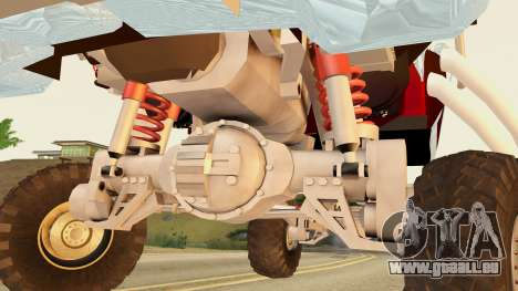 Gigahorse from Mad Max Fury Road für GTA San Andreas zurück linke Ansicht