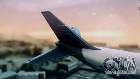 Boeing 747-400 Garuda Indonesia Sky Team für GTA San Andreas zurück linke Ansicht