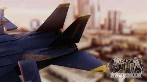 F-14A Tomcat Blue Angels für GTA San Andreas zurück linke Ansicht