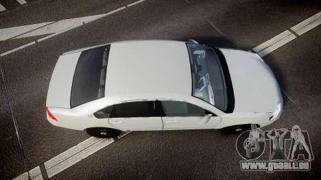 Chevrolet Impala Unmarked Police [ELS] tw für GTA 4 rechte Ansicht