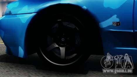 Nissan Skyline R32 Camo Drift pour GTA San Andreas sur la vue arrière gauche