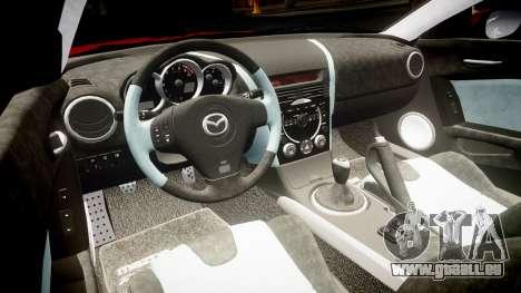 Mazda RX-8 2006 v3.2 Advan tires pour GTA 4 est une vue de l'intérieur