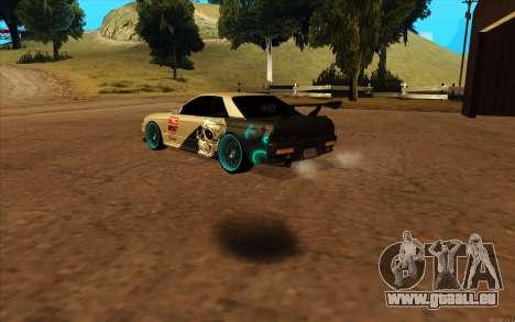 Nissan Skyline R32 RLD pour GTA San Andreas sur la vue arrière gauche