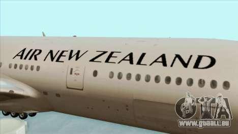 B777-200ER Air New Zealand Black Tail Livery für GTA San Andreas Rückansicht