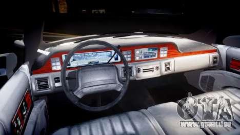 Chevrolet Caprice Chicago Police [ELS] pour GTA 4 Vue arrière