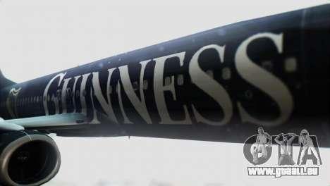 Boeing 737-800 Ryanair Guinness für GTA San Andreas Rückansicht