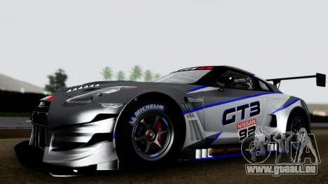 Nissan GT-R (R35) GT3 2012 PJ3 pour GTA San Andreas sur la vue arrière gauche