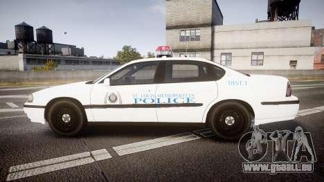 Chevrolet Impala Metropolitan Police [ELS] Pat pour GTA 4 est une gauche
