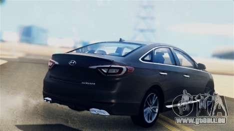 Hyundai Sonata 2015 pour GTA San Andreas laissé vue