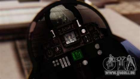 F-14A Tomcat Blue Angels für GTA San Andreas Rückansicht