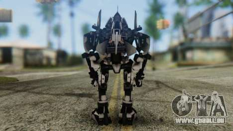 Soldier Jet Skin from Transformers pour GTA San Andreas troisième écran