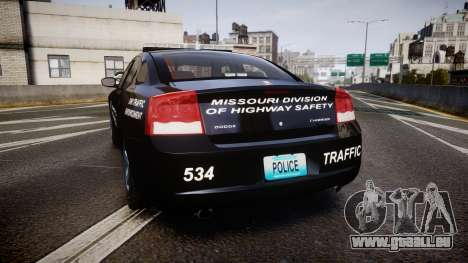 Dodge Charger Metropolitan Police [ELS] für GTA 4 hinten links Ansicht
